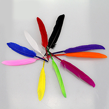 Colorful goose feather headgear accessories manual decorative DIY handmade materials stage props 50pcs/ bag