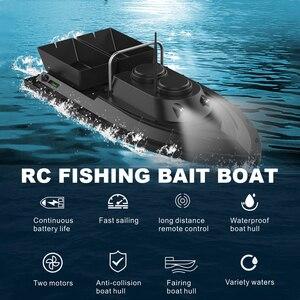 Image 3 - D11 RC Barco de cebo buscador de pesca, 1,5 kg de carga, 500m, Control remoto, doble motor, 2 luces Led, herramientas de pesca de velocidad fija