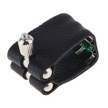 цена на 1Pc Leather Ligature Sax Saxophone Ligature Mouthpiece Fastener With Fattener Saxophone Bakelite Mouthpiece