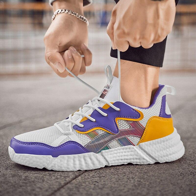Damyuan scarpe Casual da uomo in Mesh con impunture da uomo scarpe da ginnastica morbide da uomo con smorzamento sul fondo scarpe sportive da uomo comode Zapatillas