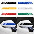 1 пара Универсальная автомобильная наклейка на зеркало заднего вида светоотражающие наклейки для автомобиля стикер Зеркало заднего вида с...