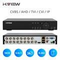 H. View 16ch NVR видео наблюдения видео рекордер CCTV DVR для домашней безопасности Поддержка 4 ТБ SATA HDD 1080P видео выход H.264 DVR