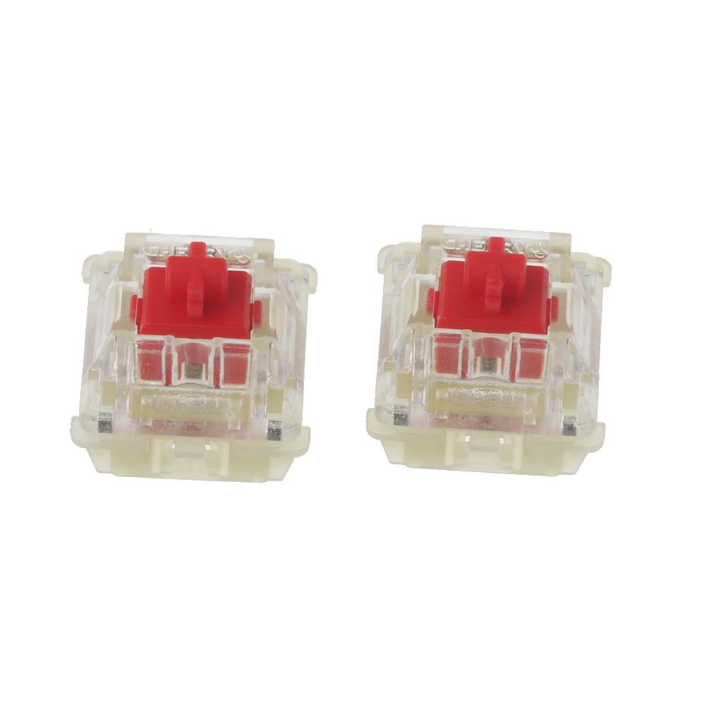 2Pcs Original SMD RGB Cherry MX Switches 3pin Feet Red Switch Mechanical Keyboard Clear Switch