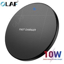 Olaf 10 w carregador sem fio qi rápida almofada de carregamento sem fio para iphone 11 xs max x 8 qi carregador adaptador receptor para samsung s10 s9