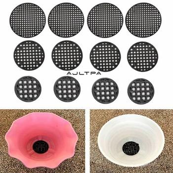 2000Pcs Thickening Black Plastic Prevent Soil Loss Leak-proof Net Breathable Flower Pot Hole Mesh Pad Garden Supplies