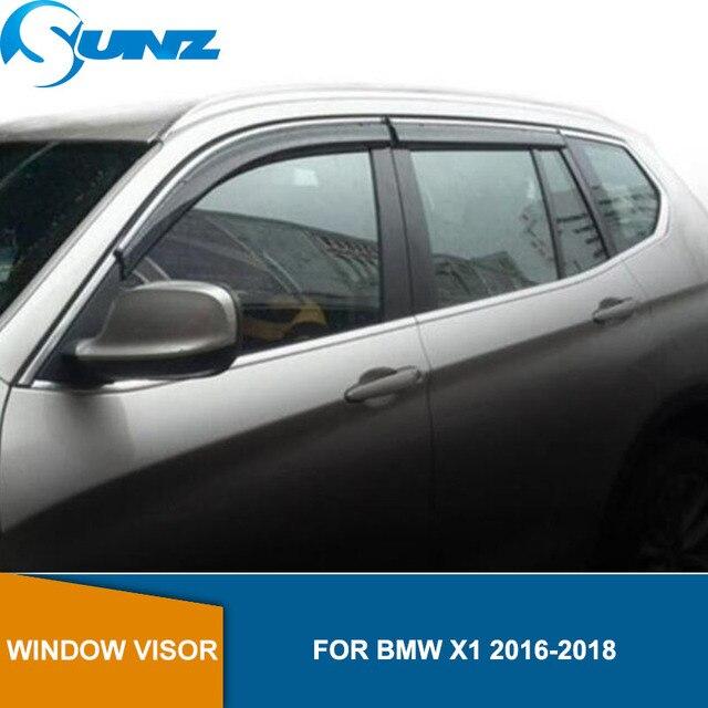 צד חלון Deflectors עבור BMW X1 2016 2017 2018 חלון Visor Vent גווני גשם משמרות הטית SUNZ
