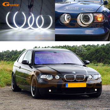 Excellent Ultra bright led Angel Eyes Halo Ring kit DRL For BMW 3 Series E46 Compact 2001 2002 2003 2004 2005 цена 2017