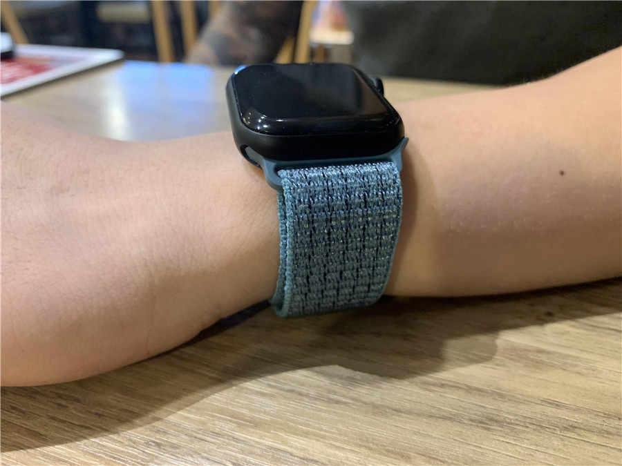 Классический тканый нейлоновый ремешок для наручных часов Apple Watch Series 5/4/3/2/1 Водонепроницаемый ремешок 40-44 мм ремень для наручных часов iWatch 38 42 мм Длина браслета