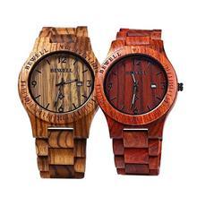 Watch Men Luxury Maple Wooden Handmade Quartz Movement Casual Wristwatch Men Watches relojes para mujer