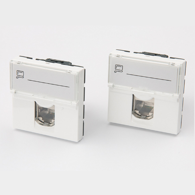 10PCS Legrand style CAT6A RJ45 FTP keystone Rotary CAT6A shielded module French module 76576(China)