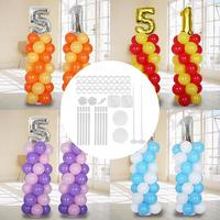 Balloon Column Stand Kit 11.8 Ft Balloon Column Kit Base Stand For Wedding Birthday Holiday Anniversary Party Accessories