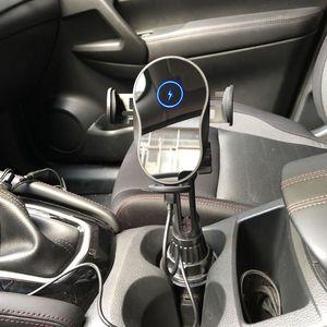 Image 5 - אוניברסלי 15W רכב כוס Qi מהיר אלחוטי מטען ערש Stand IR חכם חיישן אוטומטי הידוק מחזיק הר עבור iphone נייד Ph