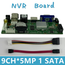 H.265 9CH*5MP NVR Network DVR Digital Video Recorder Board IP Camera Max 8T Motion Detection OVNIF CMS XMEYE SATA Line P2P Cloud