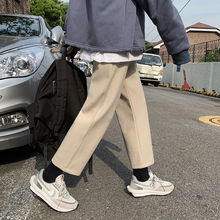 Trousers Pants Oversize Neploha Straight Winter Casual Male Men's Woolen Warm Thickened