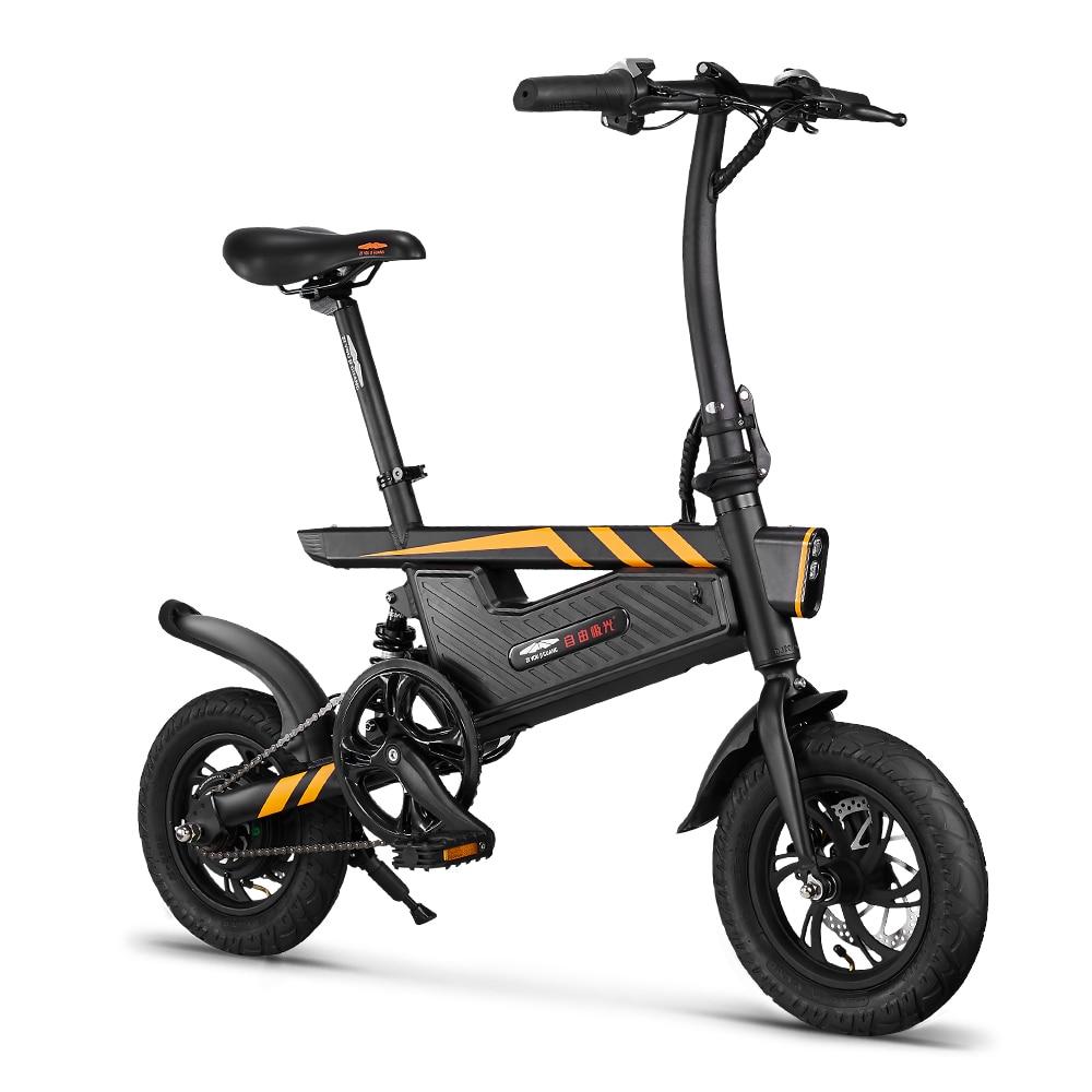 Электровелосипед 12 дюймов складной мощный электрический велосипед 250 Вт Мотор тормоза велосипед Складная ножная педаль электрический вело... - 2