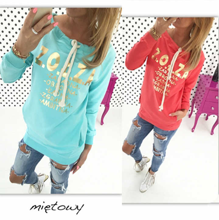 women hoodies sweatshirts Pocket Patchwork Pullover Strappy Hoodie NEW Outerwear Pullover Jumper Sweatshirt Hoodies Tops