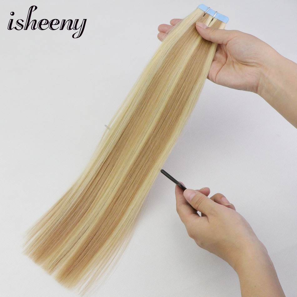 Isheeny 2.5g Remy Human Hair Tape In Extensions 14