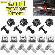 20 pièces sous le plateau moteur sous le couvercle Clips de fixation bouclier garniture panneau vis pour Audi A3 A4 A6 A8 TT réparation automatique 4A0805163 4A0805121A