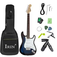 Beginners Students Electric Guitar with Bag Case Strap Tuner Strings Capo