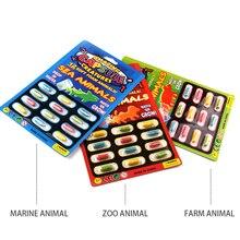 12 шт., для выращивания воды, поглощение больших таблеток, различные надувные капсулы, развивающая игрушка, красочная головоломка, креативные детские игрушки, 4 цвета