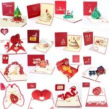 Birthday Postcard Envelope Invitations Blank-Paper Laser-Cut Pop-Up Custom Handmade Greeting