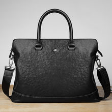 Bison denim Мужские портфели из натуральной кожи сумка для ноутбука