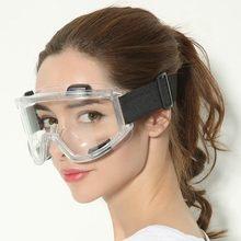 Masculino feminino óculos à prova de vento segurança areia protetora anti-impacto anti-nevoeiro anti-respingo ao ar livre anti-splash aoggle transparente f924