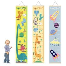 Spacecraft Animal Dinosaur Kids Height Chart Children Growth Ruler With Wood Frame Children Height Record Wall Hanging Decor