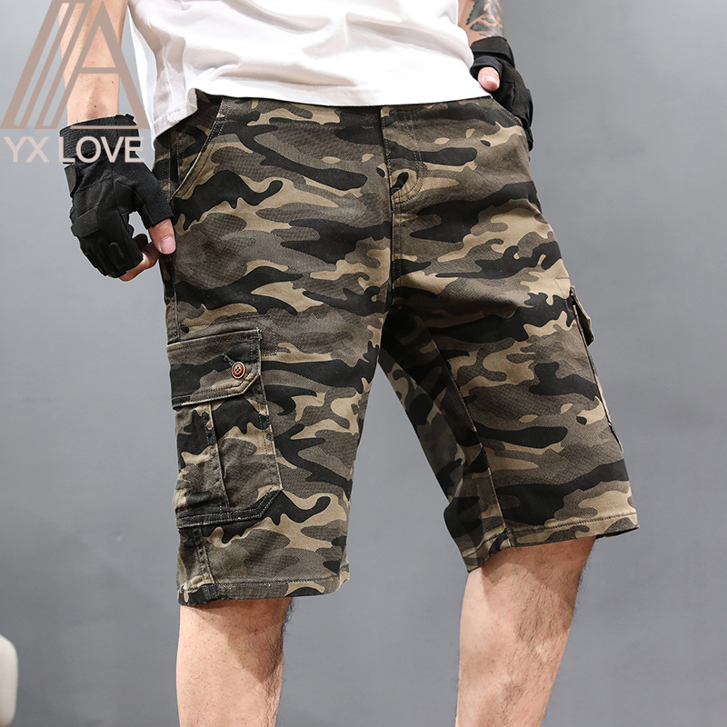 2020 New Casual Camouflage Mens Shorts Pants  Plus 30-48 Size Cool Comfortable Summer Hot Sale Cotton Brand Clothing