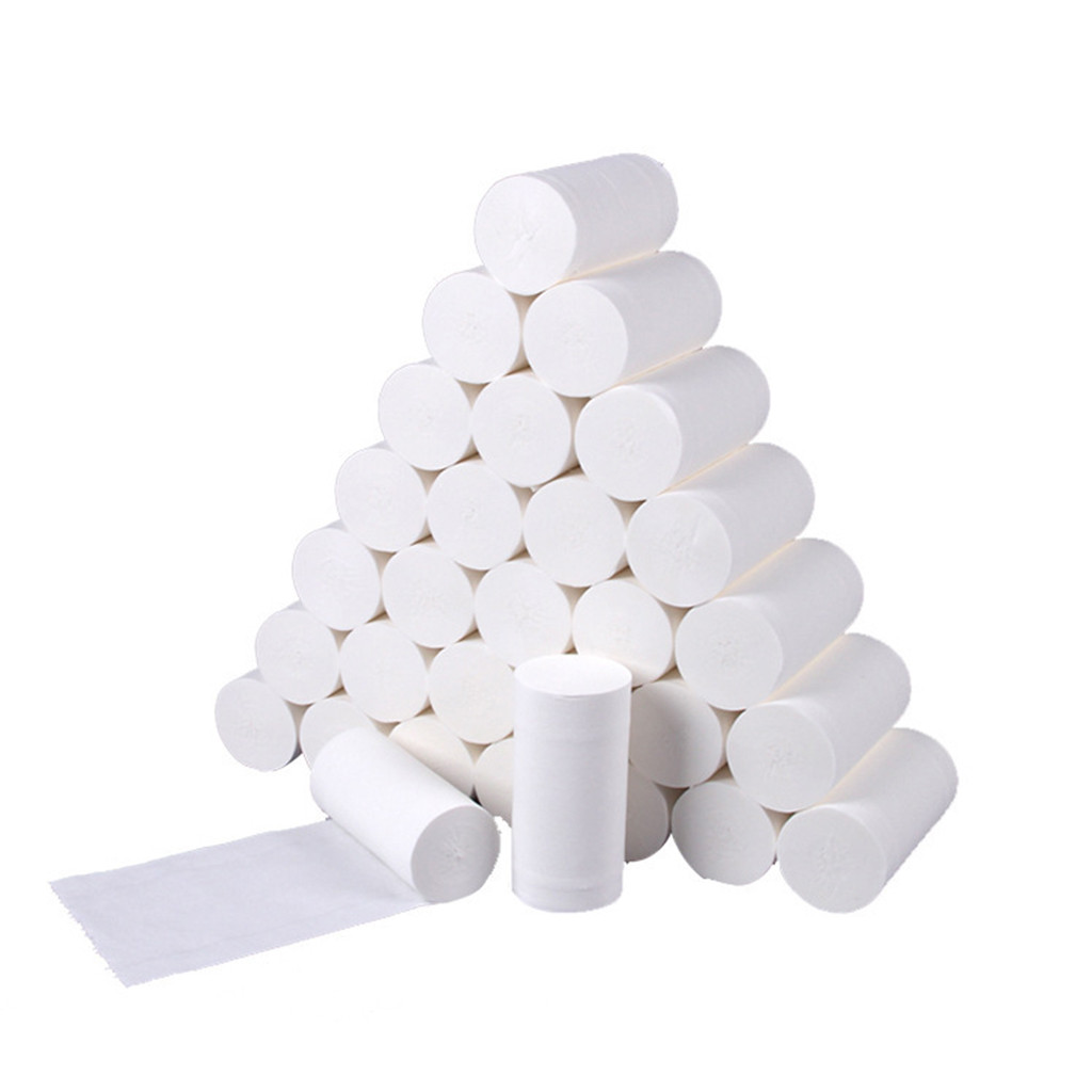 10 Roll Four Layer Toilet Tissue Home Bath Toilet Roll Toilet Paper Soft Toilet Paper Skin-friendly Paper Towels New #3
