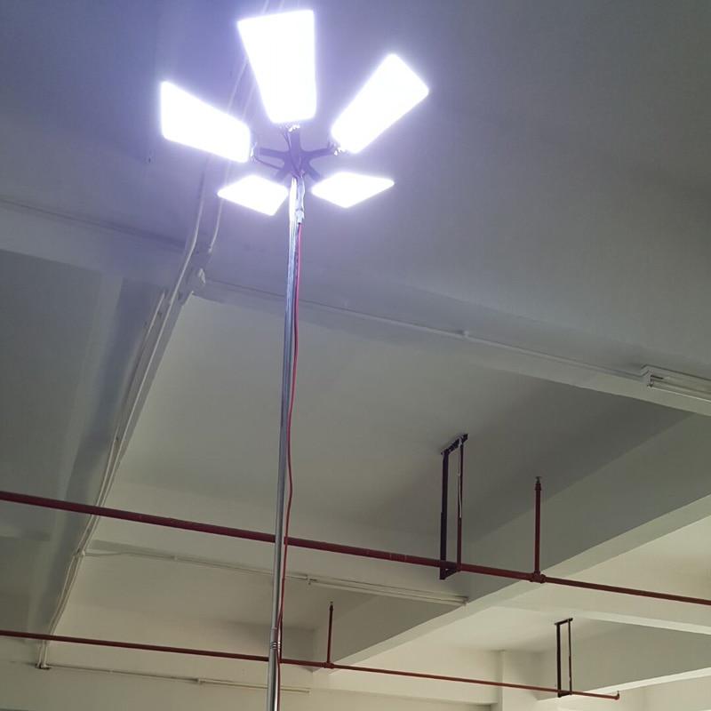 COB 5 м 12 В Телескопический светодиодный фонарь для рыбалки, фонарь для кемпинга, светильник для путешествий