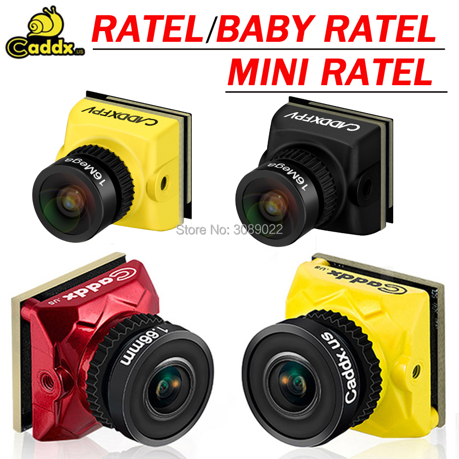 Камера Caddx Ratel /Baby Ratel/Ratel V2 HDR OSD 1200TVL FPV 16:9 4:3 NTSC/PAL переключаемый объектив 1,66/2,1 мм для FPV радиоуправляемого дрона