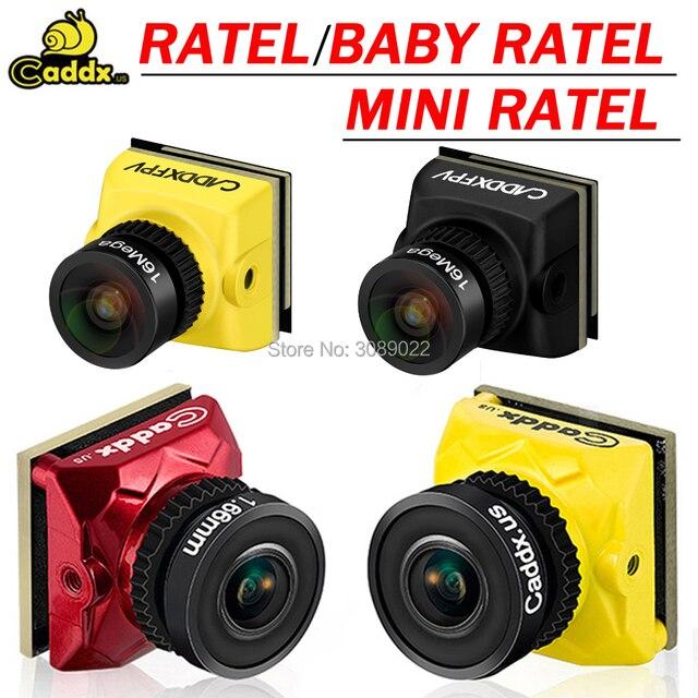 Caddx Ratel/bébé Ratel 1/1.8 Starlight HDR OSD 1200TVL FPV caméra 16:9 4:3 NTSC/PAL commutable 1.66/2.1mm objectif pour FPV Dron
