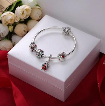 YDX Charm Bracelet 925 Sterling Silver Women's Bracelets Femme Jewelry Christmas New Year's Gift
