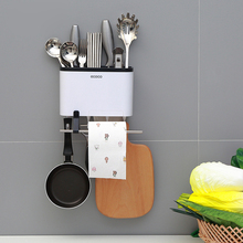 Kitchen Organizer With Moved Hooks Wall Shelf Bowl Dish Cup Cutler Fork Drainer Plastic Storage For Racks