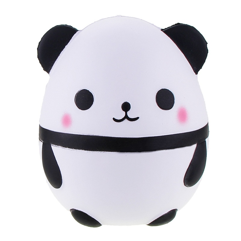 Jumbo Cute Panda Bear Egg Squishy Slow Rising Squeeze Toys Soft Stretchy Scented Stress Relief Toy Xmas Decor Gifts 12*8CM