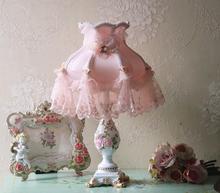 8 אינץ מקורה שינה קטן גודל קטן פרח לקשט שולחן מנורות אורך 41cm