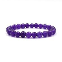 цена на Purple charm 8mm Beads Bracelet DIY Bracelets for Women&Men Pulseras Jewelry Elegant Pulseras fashion Gift within Temptation