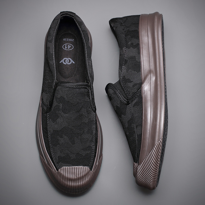 2020 New Camouflage Canvas Sneaker Shoes Men s Breathable Leisure Vulcanize Shoes Lazy Platform Trend All