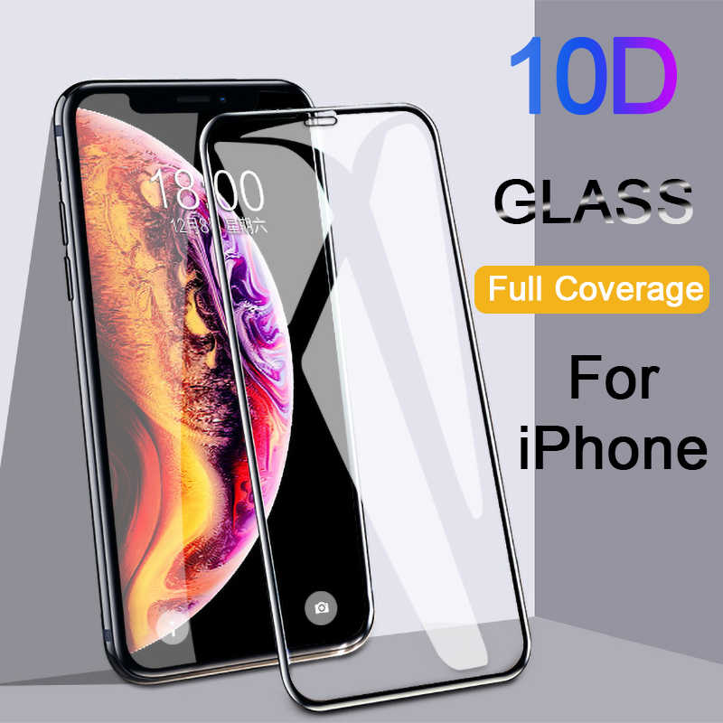 10D Protective glass for iPhone X XS 6 6S 7 8 plus glass Full Cover screen protector for iPhone 11 Pro MAX XR screen protection
