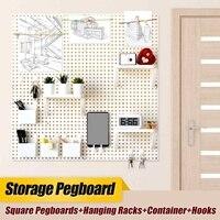 DIY Home Storage Organization Display Pegboard Storage Wall Mount Shelf For Dyson Vacuum Cleaner Storage Holder Home Organizer