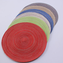 8pcs/lot Kiethen Tools Table Mat Round Placemat Eco-Friendly Hand knitted Cup Mat For Home Garden Tableware Pad(China)