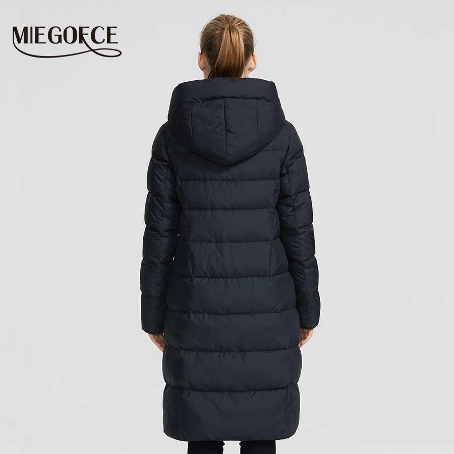 MIEGOFCE 2019 nouveau hiver femmes Collection manteau dames veste d'hiver sous genou longueur manteau chaud avec capuche protéger Ffrom vent froid