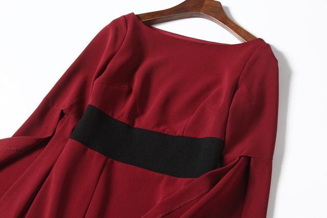 MARKOWO Designer Brand 2020 New Irregular Waist Slim Temperament Red Long Skirt Womens Banquet Dress