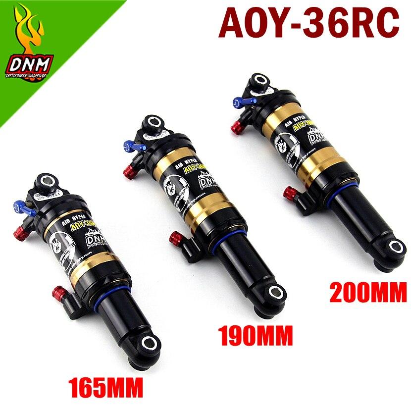 DNM AOY-36RC montaña bicicleta cuesta abajo bobina trasera choque 165mm MTB bicicleta de montaña 190mm 200mm amortiguador trasero con bloqueo amortiguador