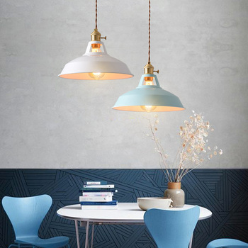 Retro  Industrial style Colorful Restaurant kitchen home lamp Pendant light  Vintage Hanging Light lampshade Decorative lamps 6