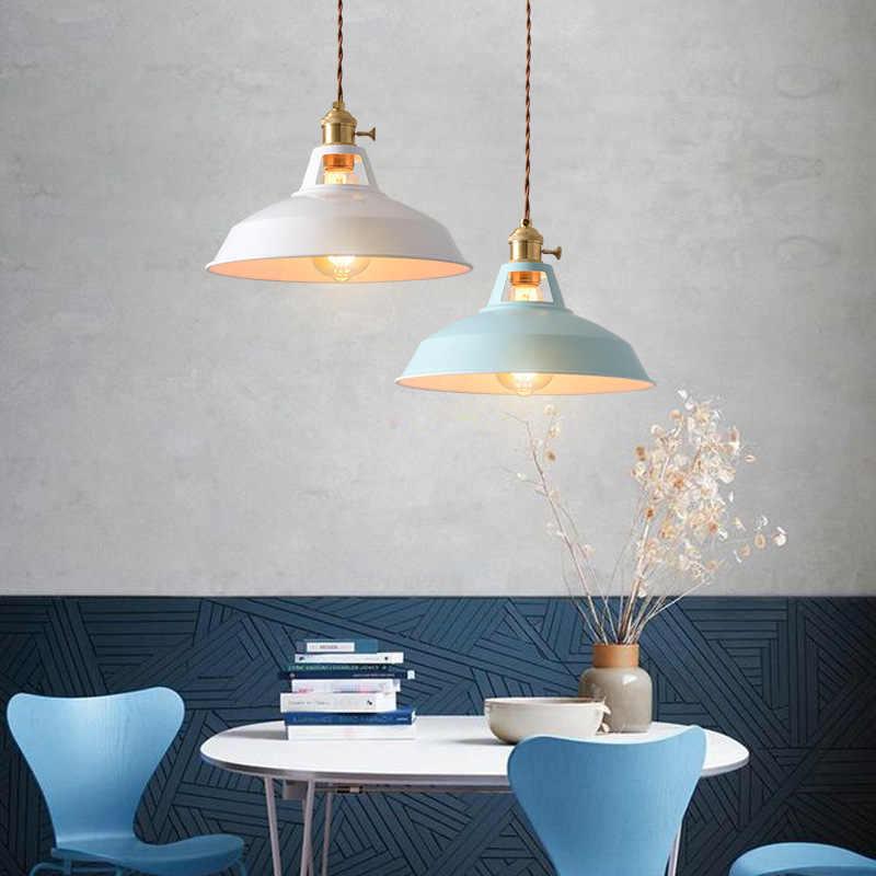 Luminária suspensa vintage vintage, estilo industrial, colorida, restaurante, cozinha, lâmpada pendente, lâmpada decorativa
