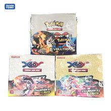 324pcs 포켓몬 카드 상자 TCG: Sun & Moon Evolutions 챔피언 경로 포케몬 부스터 박스 포케몬 게임 장난감 키즈 생일 선물