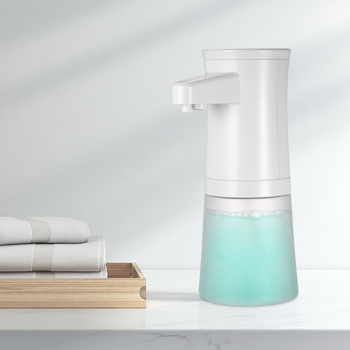 New 350ML Automatic Foaming Soap Dispenser Touchless Hand Soap Dispenser Liquid Shampoo Shower Gel Foam Pump for Bathroom Kitche