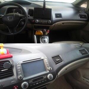 Image 5 - Padrão de fibra carbono do carro interior do carro guarnição decalques diy apto para honda civic 2006 2007 2008 2009 2010 2011